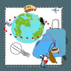 สติ๊กเกอร์ไลน์ World Travel Diary - Taiwan