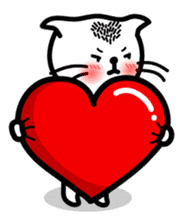 Heart Cat - v1 sticker #14588632