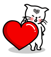 Heart Cat - v1 sticker #14588645
