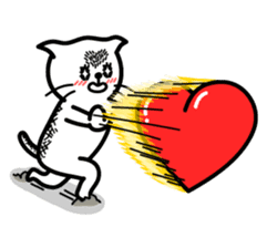 Heart Cat - v1 sticker #14588648