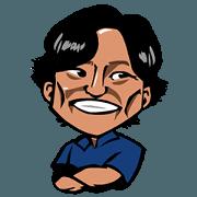 สติ๊กเกอร์ไลน์ Happy Toshi-Chan
