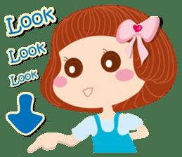Beauty-Eye girl (English) sticker #14613991