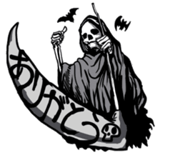 grimreaper sticker #14618343