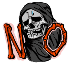 grimreaper sticker #14618345