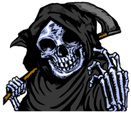 grimreaper sticker #14618358