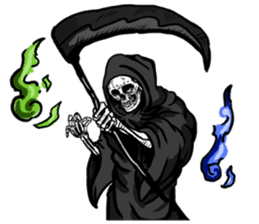 grimreaper sticker #14618363
