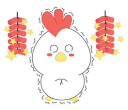 Chibi chicken chinese new year sticker #14623898