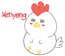 Chibi chicken chinese new year sticker #14623900