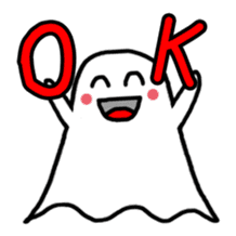 Little Cute Ghost sticker #14631754