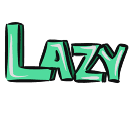 Lazy to type sticker #14638229