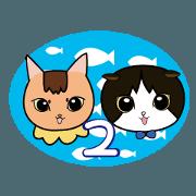 สติ๊กเกอร์ไลน์ CHAIRO and SHIROKURO2