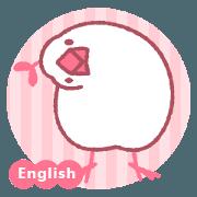 สติ๊กเกอร์ไลน์ Java sparrow bird with plant -English-