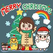 สติ๊กเกอร์ไลน์ Christmas and Happy new year 2021