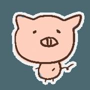 สติ๊กเกอร์ไลน์ pig with FRIENDS