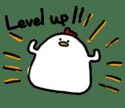 chicken gamer sticker #14670529