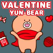 สติ๊กเกอร์ไลน์ Velentine YUN-BEAR