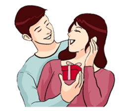 The Valentine's Couple sticker #14681503