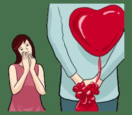 The Valentine's Couple sticker #14681526