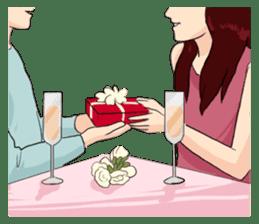 The Valentine's Couple sticker #14681539