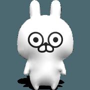 สติ๊กเกอร์ไลน์ [3D] กระต่ายสามมิติ