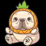 สติ๊กเกอร์ไลน์ French Bulldog-PIGU X Animated Stickers