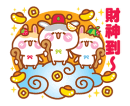 Cherry Rabbits Chinese New Year Special sticker #14702363