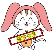 สติ๊กเกอร์ไลน์ Rabbit Turban - Cat