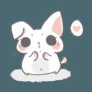 สติ๊กเกอร์ไลน์ Rabbit meow child