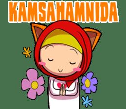 Cute K-Pop Hijab sticker #14710346
