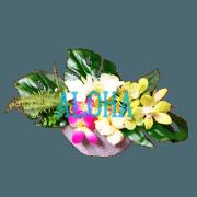 สติ๊กเกอร์ไลน์ flower arrangement