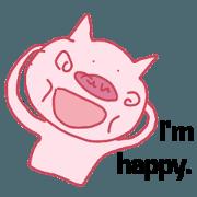 สติ๊กเกอร์ไลน์ I think pig is popular in 2017.