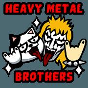 สติ๊กเกอร์ไลน์ Heavy Metal Brothers