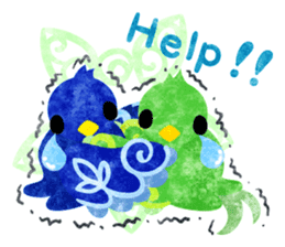 Mysterious little birds sticker #14714207