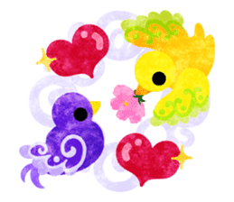 Mysterious little birds sticker #14714208