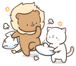 Lion and Kitty, adorable couple Ver3. sticker #14716078