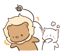 Lion and Kitty, adorable couple Ver3. sticker #14716080