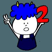 สติ๊กเกอร์ไลน์ Blue Orge of The Brusque Attitude 2