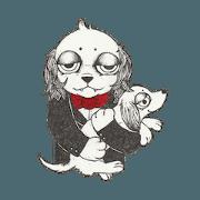 สติ๊กเกอร์ไลน์ RYOMA SAEKI's LINE sticker Dog and Fish