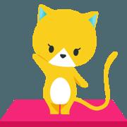 สติ๊กเกอร์ไลน์ Gohobee Cat Yellow