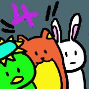 สติ๊กเกอร์ไลน์ Always together of friends! 4!!