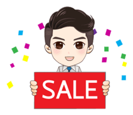 Business Man Sale sticker #14726009