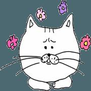 สติ๊กเกอร์ไลน์ THE WHITE CAT HAS A SHARP TONGUE