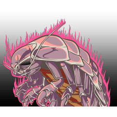 Giant isopod Stickers