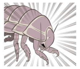 Giant isopod Stickers sticker #14729680