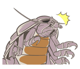 Giant isopod Stickers sticker #14729694