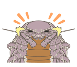 Giant isopod Stickers sticker #14729696