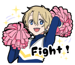 Cheer boy sticker #14734375