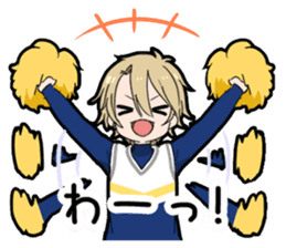 Cheer boy sticker #14734376