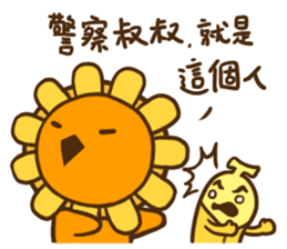 Flower & Banana sticker #14739846