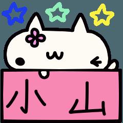 Koyama's name sticker